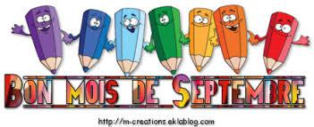"""Résultat de recherche d'images pour """"bonjour Septembre"""""""