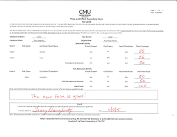 time and effort reporting q a and sample form central michigan sample time and effort form website page 1 png