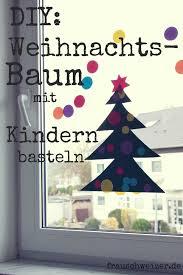Basteln Mit Kleinen Kindern Fensterbild Tannenbaum