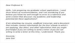 Letters Of Recommendation For Graduate School Download Free ...