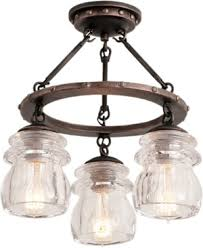 rustic ceiling lights. Kalco 6318 3-Light Semi Flush Ceiling Light From The Brierfield Collection Rustic Lights