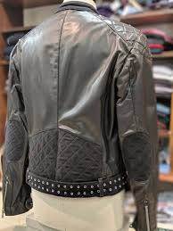 class roberto cavalli leather biker jacket