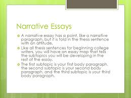 "narrative essays storytelling a point what does ""narrative  5 narrative essays"