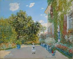house at argenteuil by claude monet