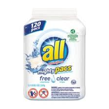 ALL Mighty Pacs <b>Free & Clear</b> Laundry Detergent (120 loads ...