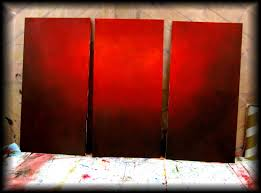 how to paint a vibrant red background step by step fast and easy