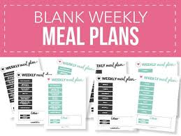 Week Meal Plans Free Printable Weekly Meal Plan Templates I Heart Naptime