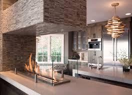 interiors hot fireplace ideas features concrete living room with corbett vertigo chandelier