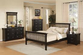 mission style bedroom set. 6 piece mission style bedroom set in distressed black finish by coaster - 201441
