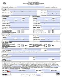 Blank Rental Application Free Hawaii Rental Application Pdf Word Doc