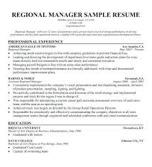 sample resume sales manager retail sales manager resume unique sample resume for regional sales