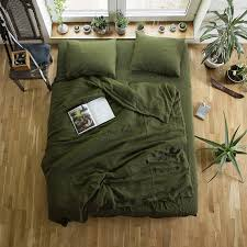 green duvet cover contemporary linen and pillowcaseslinen bedding setwashed with 17