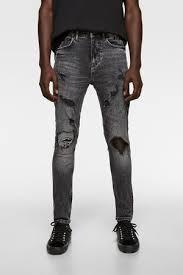 skinny jeans zara pantalones rotos para