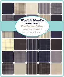 Wool and Needle IV Silo 1193 14F — Rocking Chair Quilts & Wool & Needle Flannels IV The Farmer's Son by Primitive Gatherings for Moda  Fabrics Adamdwight.com