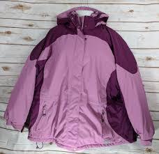 ll bean womens winter coat size 3x purple primaloft ski coat warm heavy coat