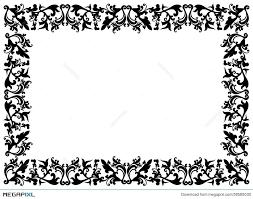 black and white fl elements on blank frame