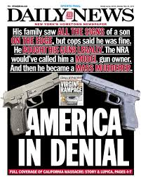 Front Talking Ny Daily Page Memo In photo 'america Denial' News Guns About Points