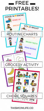 Bedtime Charts Free Free Printable Routine Charts And Chore Charts For Kids