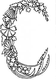Small Picture Alphabet Flowers Letter C Coloring Pages Batch Coloring