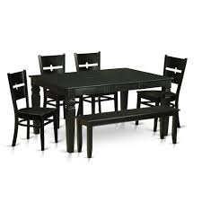6 Pc Kitchen Dining Set Small Kitchen Table And 4 Kitchen Chairs