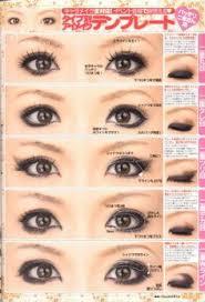 round asian eye make up