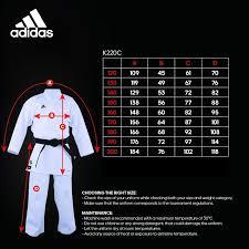 Club Karate Uniform By Adidas Wkf Appr Adult Sizes 160 200 K220c Adult