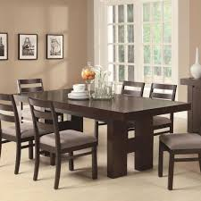 home design details about cuba dark wood furniture six seater dining table set with regard