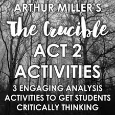 The Crucible Act 2 Character Chart The Crucible Act 2 Activity Worksheets Teachers Pay Teachers