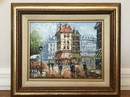 details about original ine burnett paris street scene oil painting canvas impressionism