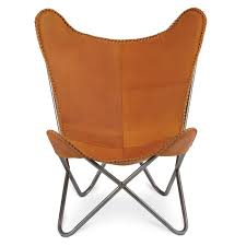 scandinavian leather chairs. Unique Leather 1938 TOBACCO LEATHER BUTTERFLY CHAIR  In Scandinavian Leather Chairs