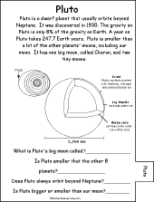 Small Picture Planets Book for Early Readers EnchantedLearningcom