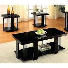 set of three coffee tables three black glossy modern design coffee table set brown laminate hardwood set of three coffee tables