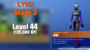 Fortnite Skin Chart Fortnite Skin Upgrades Zenith Lynx By Levels Youtube