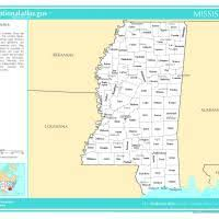 Image result for free printable map of mississippi counties