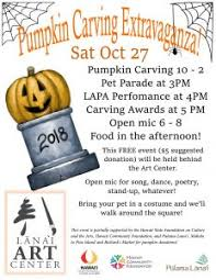 Pumpkin Carving Contest Flyers Pumpkin Carving Plus Lanai Art Center