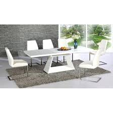 white glass dining table white glass and gloss extending dining table 6 chairs verona rectangular white white glass dining table
