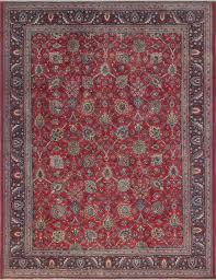 vintage distressed huntingdon red blue rug 9 8x12 8 traditional area rugs by noori rug