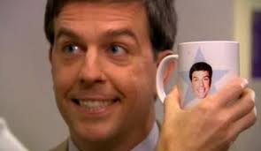 the office star mug. andy from the office star mug