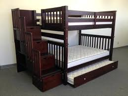 twin over full bunk bed with stairs. Bunk Beds Full Over Stairway Cappuccino Trundle Storage Twin Bed With . Stairs