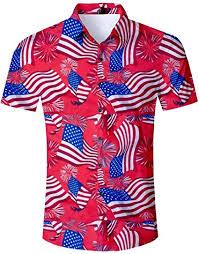 Fanient <b>Mens Hawaiian Shirt Summer</b> 3D Print Casual Short Sleeve ...