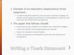 freshmen career fair acirc consider the type of paper you re writing example of an expository explanatory thesis statement euml131in order to become