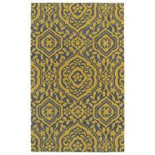 kaleen evolution yellow 3 ft x 5 ft area rug