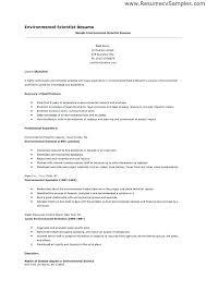 Environmental Resume Template Scientist Resume Templates Examples
