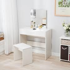 set dresser vanity dressing table stool set makeup dresser desk with mirror