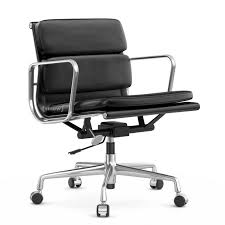 vitra eames softpad chair ea217 poliert nero zoom