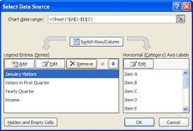 Delete A Data Series Chart Data Chart Microsoft Office
