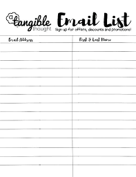 9 Sign Up Sheet Templates Email Template Word Editable Contactory Co
