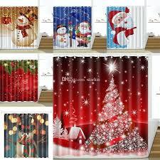 santa shower curtain shower curtain snowman waterproof bathroom shower curtain decoration with hooks design shower curtains santa shower curtain
