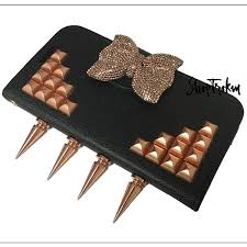 huawei copper plus. custom huawei tribute fusion 3 rose gold copper studded spiked wallet phone case bow shop trokm plus s