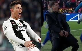 Image result for ronaldo celebrating atletico win